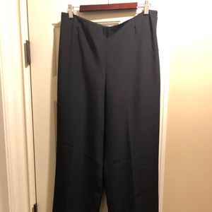 Armani Collezioni side zip black pants sz 10